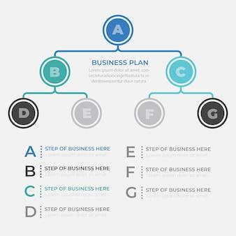 Präsentations-business-infografik-vorlage mit 7 optionen