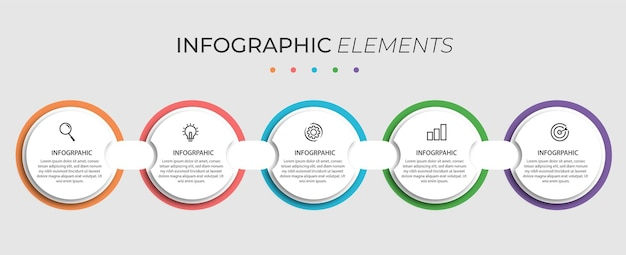 Präsentations-infografik-element