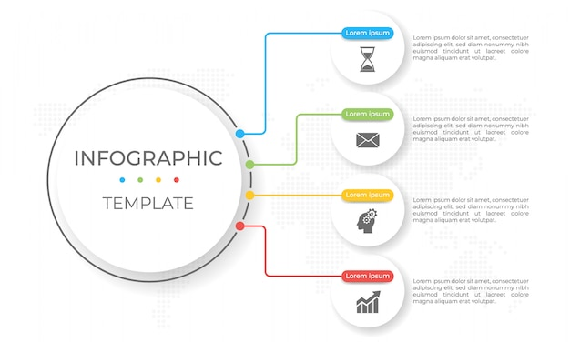Präsentations-infografik-vorlage 4 optionen.