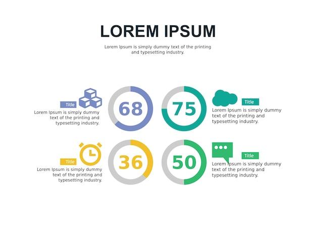 Präsentationsfolie mit business infografik