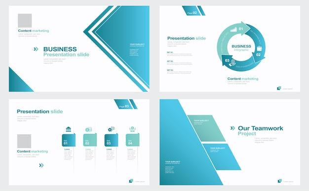 Präsentationsfolien für geschäftspräsentationen aus infografikelementen stockillustration vorlage
