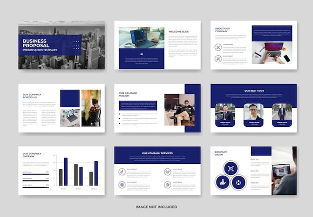 Präsentationsfolienvorlage für geschäftsprojektvorschläge oder pwoerpoint-vorlage für das firmenprofil