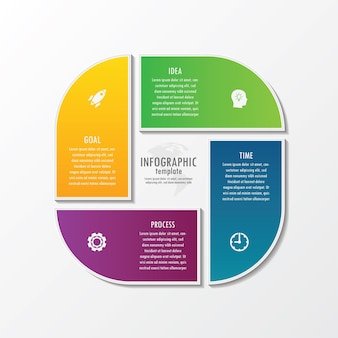 Präsentationsgeschäft infografik vorlage mit 4 schritt
