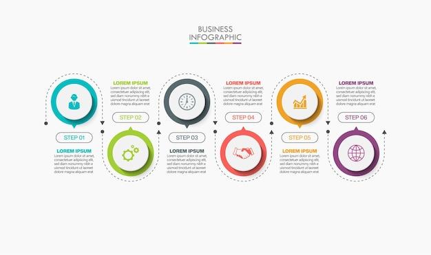 Präsentationsgeschäft infografik vorlage mit optionen