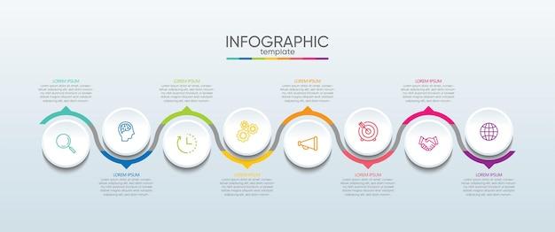 Präsentationsgeschäft infografik vorlage mit schritt
