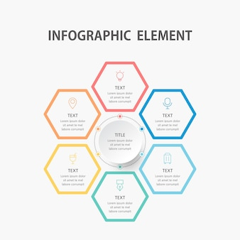 Präsentationsgeschäft infografik vorlage.