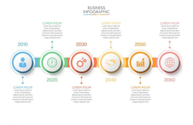 Präsentationsgeschäft infografik vorlage