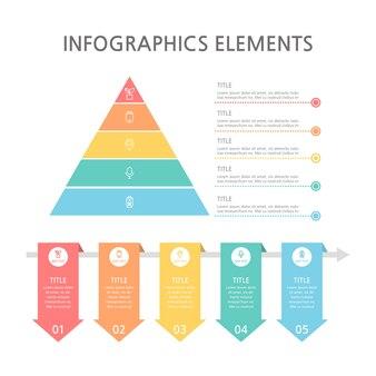 Präsentationsgeschäft infografiken vorlage. illustration.
