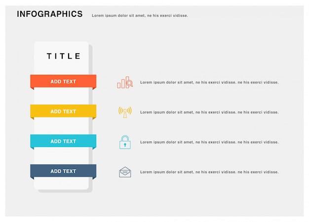 Präsentationsgeschäft infografiken vorlage. illustration. Premium Vektoren