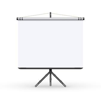 Präsentationskonferenz-konferenzschirm des weißen brettes mit stativillustration.