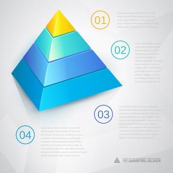 Präsentationsschablone mit pyramidendiagramm und text
