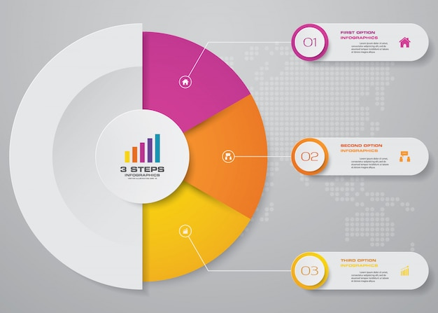 Präsentationstabelle infografik