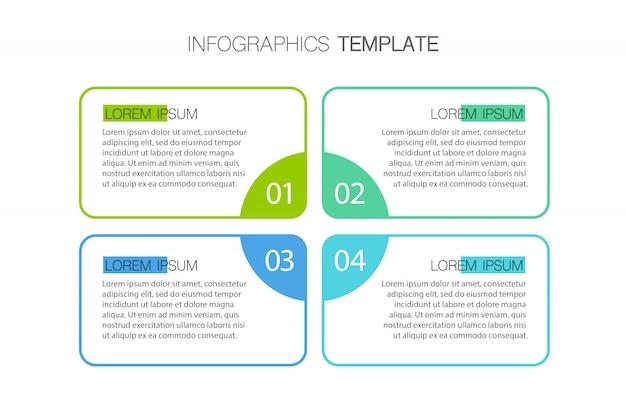 Präsentationsvorlage business infografik mit optionen. illustration.