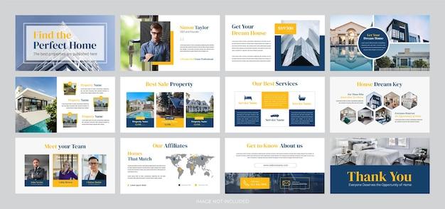 Präsentationsvorlage für immobilienunternehmen