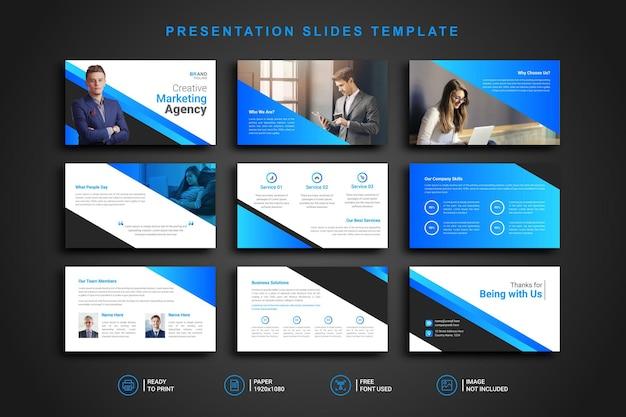 Präsentationsvorlage für powerpoint-folien Premium Vektoren