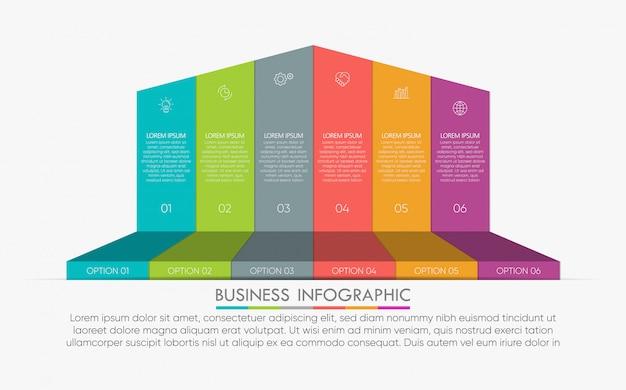 Präsentationsvorlage geschäft infographik
