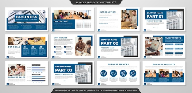 Präsentationsvorlagen layout design premium-stil
