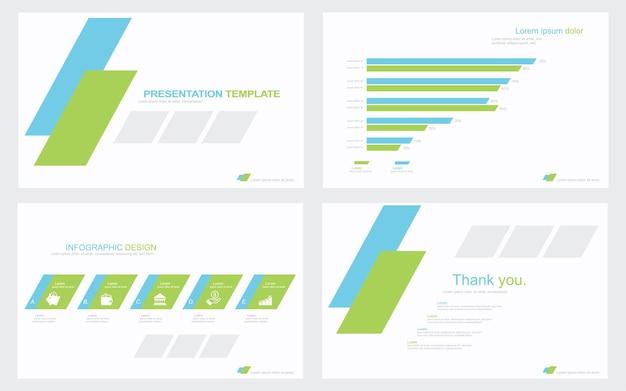 Präsentationsvorlagendesign mit infografik stock illustration data document graph
