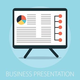 Präsentationswerbetafel mit diagramm und diagramm