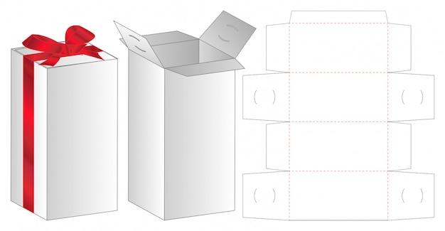 Präsentieren sie geschenkbox verpackung gestanzte vorlage