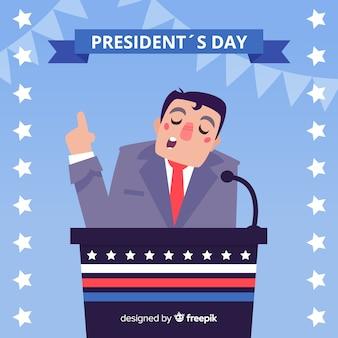 Präsident rede hintergrund