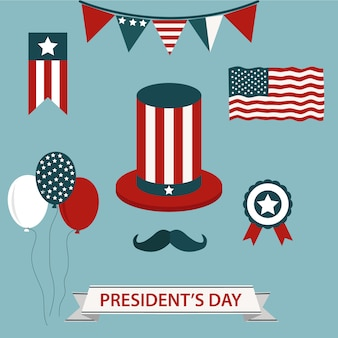 Präsident's day elementsammlung