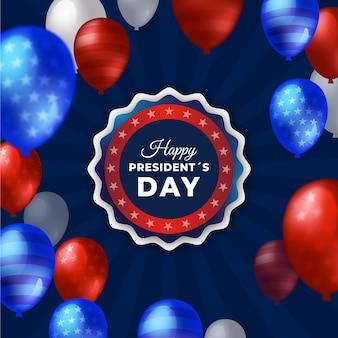 Präsidententag mit realistischen luftballons