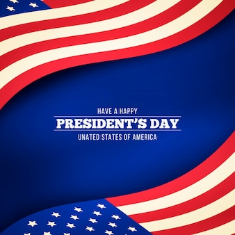 Präsidententag mit realistischer flagge