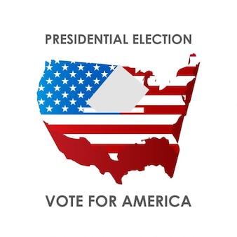 Präsidentenwahl abstimmung für amerika