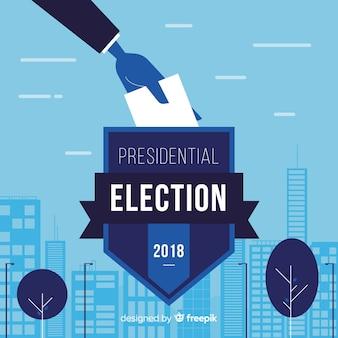 Präsidentenwahlzusammensetzung mit flachem design