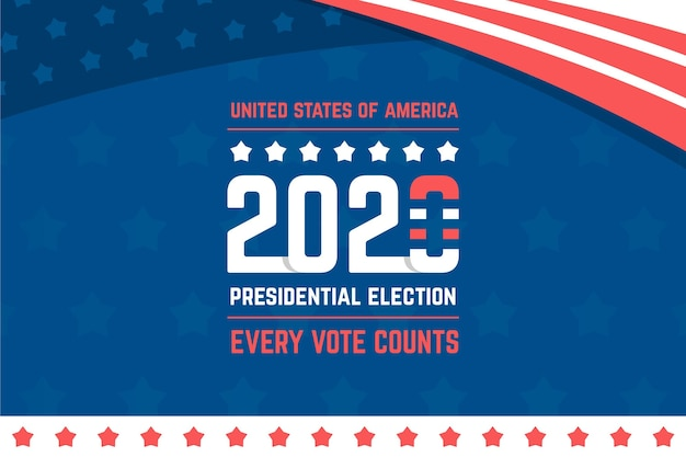 Präsidentschaftswahlen 2020 im hintergrund der usa