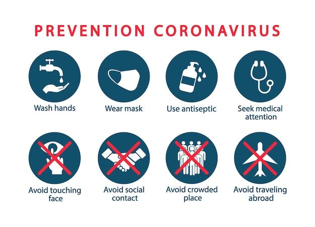 Prävention coronavirus. gefährliches virus, pandemie. 2019-ncov. banner