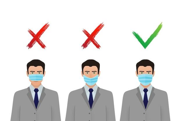 Prävention von coronavirus-pandemien. medizinisches maskensymbol. coronavirus schutz .