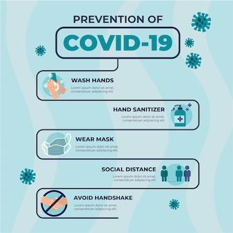 Präventions-infografik für mehr sicherheit