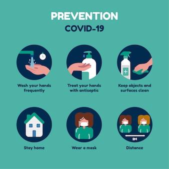 Präventions-infografik, was zu tun ist und was nicht