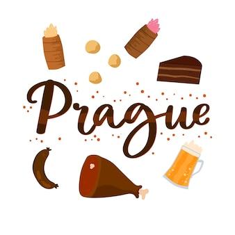 Prager stadt schriftzug