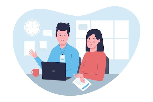 Praktikumsjob illustration