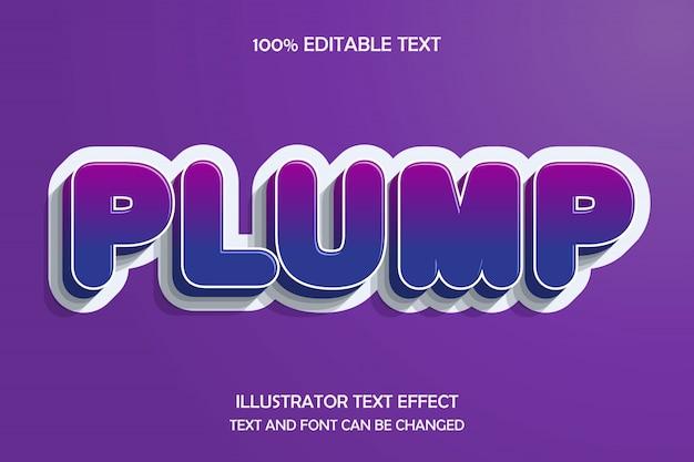 Praller, bearbeitbarer texteffekt im modernen prägestil