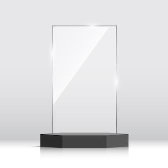Preis für leere glas-trophäe. illustration.