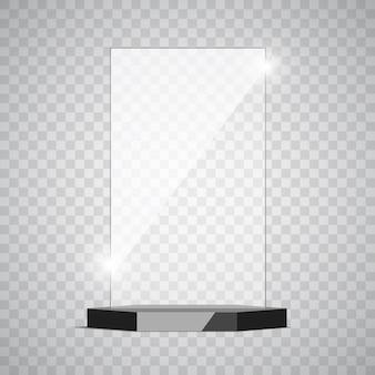 Preis für leere glas-trophäe.