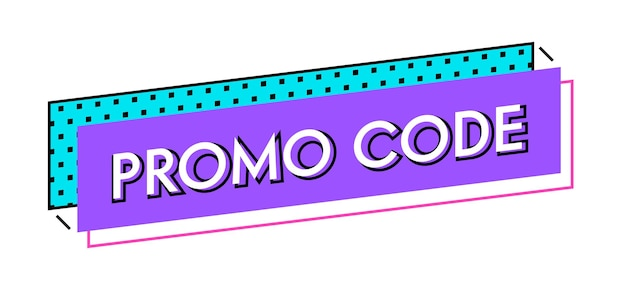 Preis-rabatt-angebot grafik-design-element. werbecode-werbung, sonderangebot e-commerce. geschenkgutschein oder coupon mit promo-code. zertifikat-vorlagen-design. lineare vektorillustration