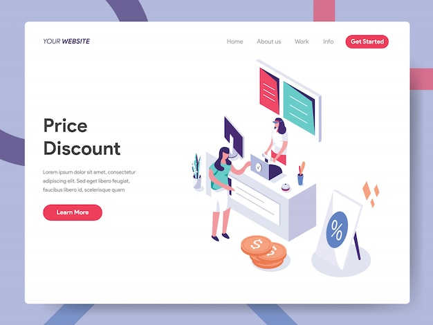 Preisnachlass landing page