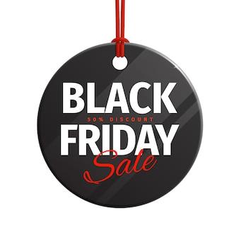 Preisschild für den black friday-verkauf