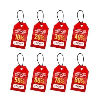 Preisschild-rabatt-verkauf-premium-kollektion