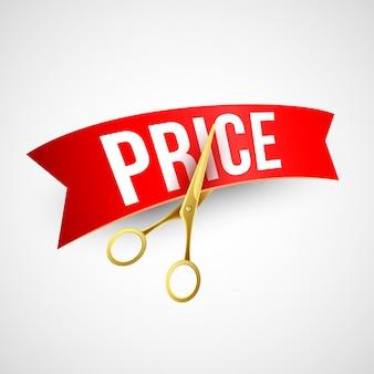 Preissenkung goldscherenbanner