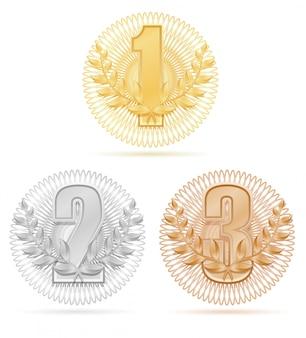 Preisträger kranz gewinner sport gold silber bronze aktie.