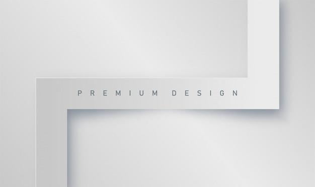 Premium abstrakter realistischer minimalistischer weißer hintergrund für banner oder poster