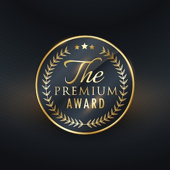 Premium-auszeichnung golden label design