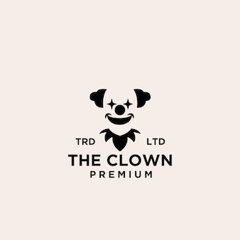 Premium-clown / joker-logo-symbol-design-vektor-illustration
