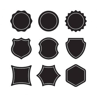 Premium-design-elemente. ideal für retro-vintage-logos. schwarze rahmen designers collection